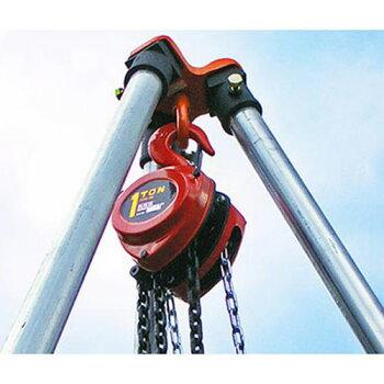 【楽天市場】スリーエッチ 1トン チェーンブロック 《3 6m三脚付きセット》 R11 S80 :ミナト電機工業