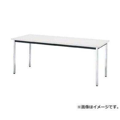 TRUSCO会議用テーブル1200X600XH700角脚下棚無ホワイトTD1260W[TD-1260-W][r20]