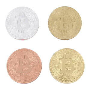 【4点セット】 bitcoin ビットコイン バーチャルマネーメダル 【送料無料】ctr-f87