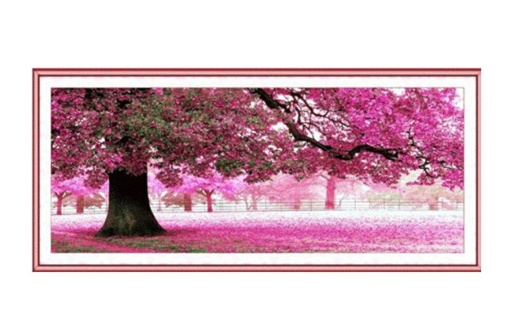 これ素敵っ クロスステッチ 刺繍キット 大樹 桜満開 L308 lvt-308