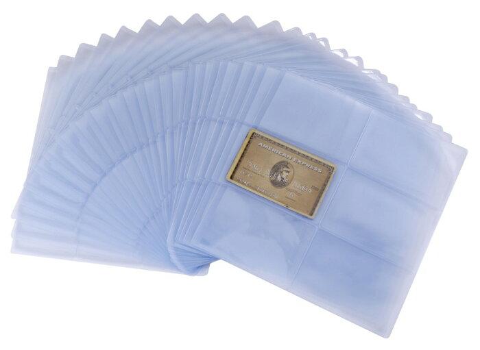薄型 防磁 保護 透明 ビニール カード ケース 大容量 150枚 つや消し クレジットカードケース 【送料無料】mmk-j05