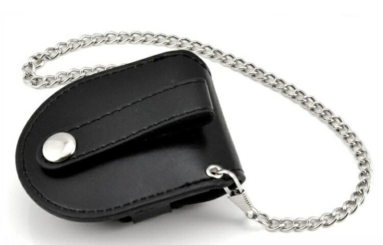 アンティーク ヴィンテージ チェーン付き懐中時計用ケース 黒 懐中時計 収納ケース 【】mmk-j64