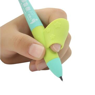矯正 猫背 鉛筆 ペン ボールペン 握り方 持ち方 矯正 グリップ ペン 親指入り 学校 勉強 右手 6個セット 【送料無料】mmk-k05