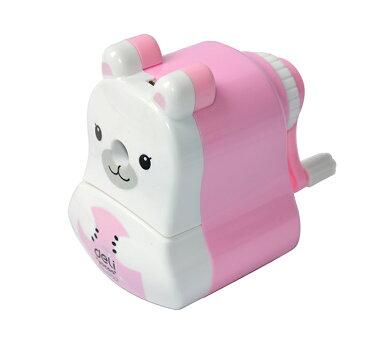 かわいい クマ スーパー 安全 卓上 鉛筆 削り 手動 鉛筆削器 シャープナー ピンク 【送料無料】mri-a28