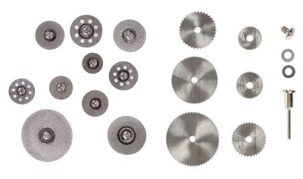 ダイヤモンドソーブレードセット研磨10本&鋸刃切削ディスク6枚カッティングミニルーター替刃  mri-c20