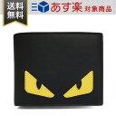 フェンディ 財布 FENDI 7M0001 O73 F0U9T メンズ BAG BUGS EYE バッグ バグズ アイ 二つ折り財布 黒 ブラック