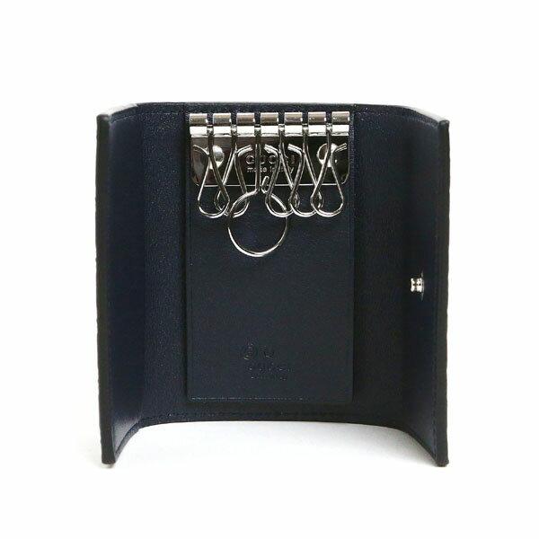 グッチ キーケース GUCCI アウトレット 150402 BMJ1N 4009 GG柄 マイクログッチシマ レザー キーケース ネイビー