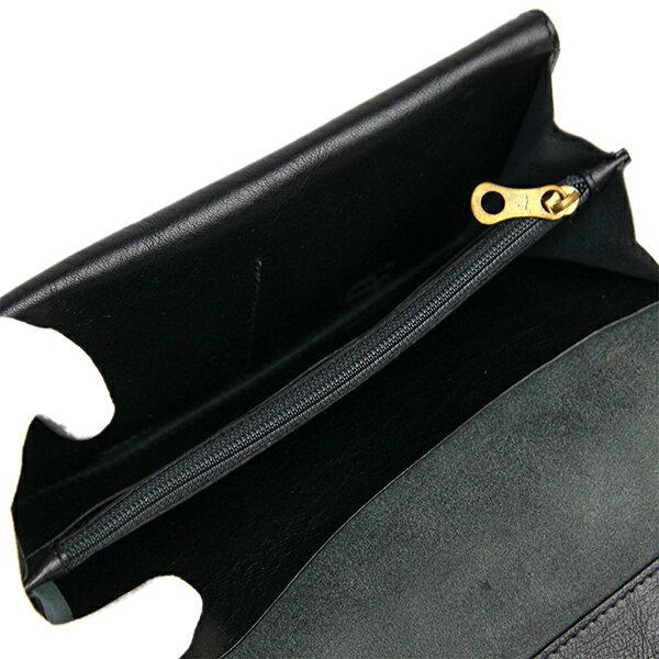 イルビゾンテ 長財布  IL BISONTE メンズ 二つ折り長財布  C0881 P 153 BLACK ブラック レザー