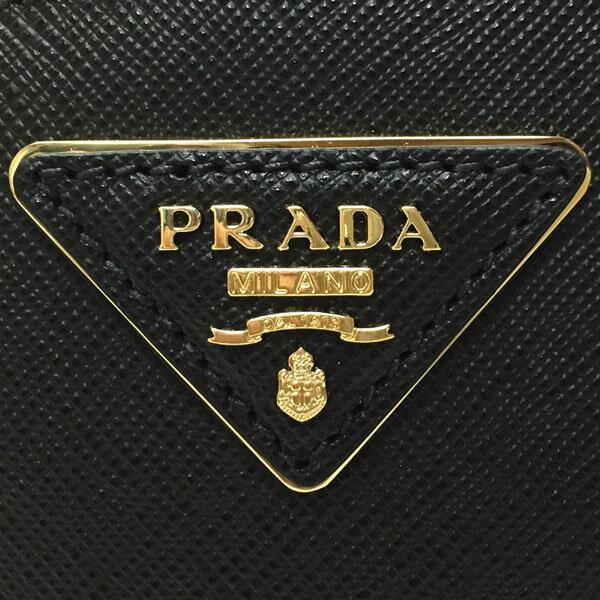 プラダ オデット 「サフィアーノ」レザー バッグ PRADA 1BH123 NZV F0002 レディース 斜め掛け レザー 2WAYハンドバッグ SAFFIANO LUX NERO ブラック