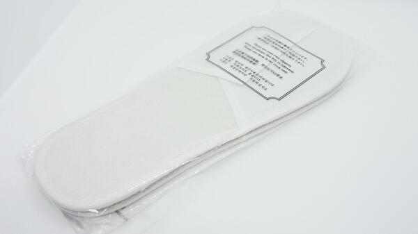 【400足】不織布使い捨て室内スリッパ(F-28・不織布・白)大量業務用個包装袋入400足
