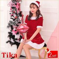 サンタコスプレクリスマスコスチューム衣装セクシーファー付き定番サンタコスプレ赤大人サンタコスコスプレ衣装クリスマスサンタクロース3setビジューベアサンタコスチュームセットレッドピンクXLサイズセール