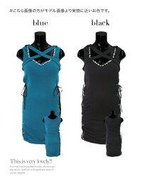 キャバワンピキャバドレス大きいサイズセクシードレスクロスネックビジュー編み上げスピンドルフラワーレースタイトミニタイトミニドレスブルーブラック青黒キャバドレスキャバ嬢キャバクラミニワンピース膝丈タイトドレス