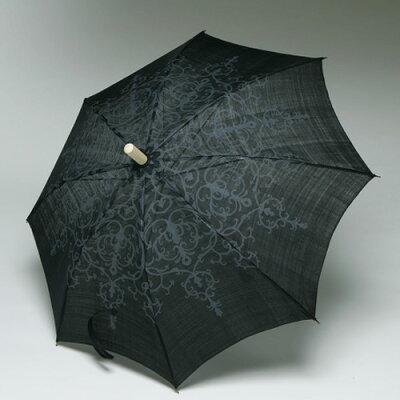 遊中川 前原光榮商店謹製 日傘。八稜鏡紋の模様を手捺染で型染めした手織りの麻の日傘です。...