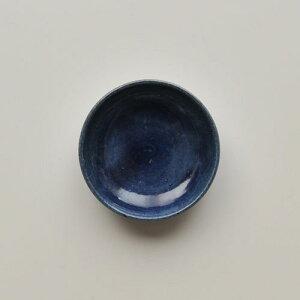 【薩摩焼】 龍門司焼 呉須 2.5寸小皿(黒薩摩・民藝)