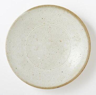 まゆみ窯 糠白釉 八寸皿