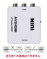RCATOHDMI変換アダプタアナログコンポジット切替ダウンコンバーターアダプタRCAUSBデジタル変換コンバーターAVtoHDMI変換器電源不要1080P対応スマホiPhone高品質カーナビテレビTVブルーレイ対応送料無料