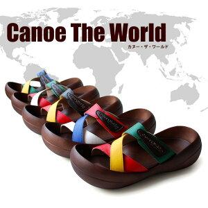 世界の国旗をイメージしたPOPでカラフルなカヌーサンダル★【Canoe×AltoLibro】コラボレーショ...