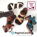 シンプルだから毎日履けて歩きやすい♪Regetta Canoe リゲッタカヌークロスベルトサンダル<バ...