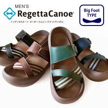 RegettaCanoe-リゲッタカヌー-CJBF-5139ボーダーゴムビッグフットサンダル/メンズ