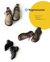 【セール期間中ポイント10倍!】RegettaCanoe-リゲッタカヌー-CJES-6115エッグヒールボアレースアップショートブーツ