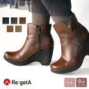 Re:getA -リゲッタ-R-96 クロスベルトショートブーツ(9cmヒール)