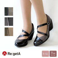 Re:getA-リゲッタ-R-1976アーモンドトゥパンプス(7cmヒール)