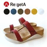 Re:getA -リゲッタ-ECR-002 サンダル レディース 厚底 履きやすい 疲れにくい 痛くない
