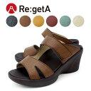 Re:getA -リゲッタ- R-1011 ウェッジソール 厚底 履きやすい サンダル レディース つっかけ 歩きやすい