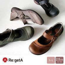 Re:getA-リゲッタ-SCR-0201切り替えしワンベルトシューズ