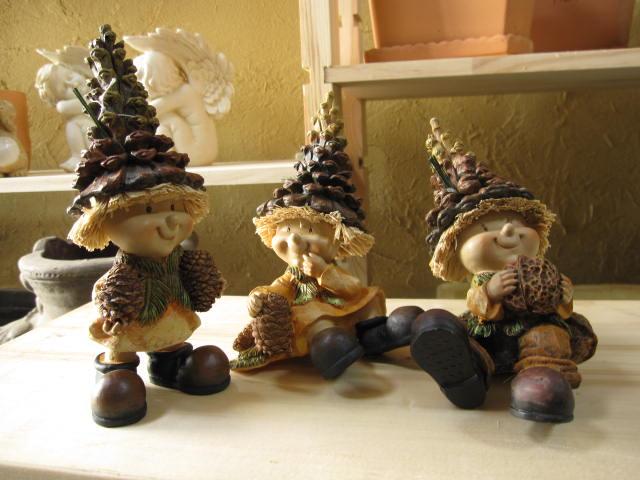森の妖精の置物三セット