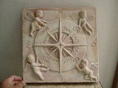 天使をモチーフした テラコッタ製の オーナメント天使の石版  テラコッタ製