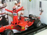 ホットホィール1/18フェラーリF2004ミハイル・シューマッハ2004ワールドチャンピオン/フィニッシュラインバージョン