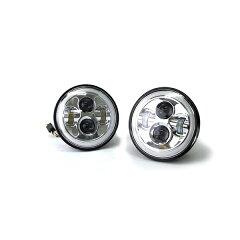 LEDプロジェクターヘッドライトホワイトシリーズエンジェルアイ【2個1セット】