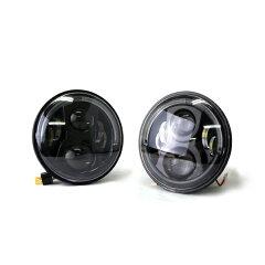 LEDプロジェクターヘッドライトブラックシリーズスマイルアイ【2個1セット】