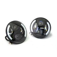 LEDプロジェクターヘッドライトブラックシリーズラッキーアイ【2個1セット】