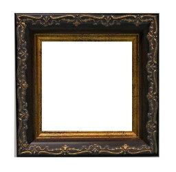 樹脂アンティークおしゃれフレーム8214ブラウン額縁サイズ100mm×100mm窓枠サイズ88mm×88mm2mmアクリル裏板付壁掛け用/箱なし