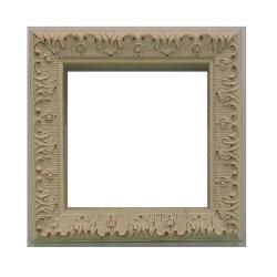 樹脂アンティークおしゃれフレーム8210ホワイト額縁サイズ100mm×100mm窓枠サイズ90mm×90mm2mmアクリル裏板付壁掛け用/箱なし