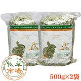 牧草市場 バミューダヘイ1kg(500g×2パック)