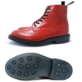 正規品トリッカーズカントリーブーツブーツウィングチップTricker'sMALTON(モルトン)M2508レッドダイナイトソールfitting5BOOTS紳士靴ウイングチップブーツメンズ送料無料