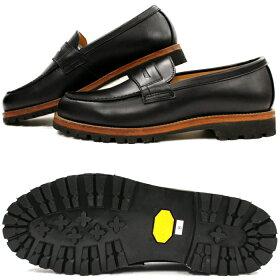 LockingShoesロッキングシューズbyFootMonkeyフットモンキーローファーPENNYLOAFER1028(ブラック)ビブラムモンターニャソールカジュアルシューズメンズ革靴本革日本製送料無料men'sshoes