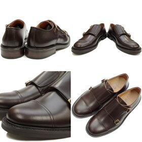 ロッキングシューズLockingShoesbyFootMonkeyフットモンキー915ダークブラウン日本製ダブルモンクストラップローカットメンズビジネス短靴日本製MADEINJAPAN送料無料