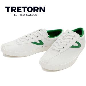 トレトン TRETON mt NYLITE PLUS B [VINTEGE WHITE/VINTEGE WHITE/GREEN] ナイライト プラスビー キャンバス スニーカー メンズ ローカット sneaker