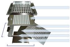 簡易型カプセル充填機用サイズ交換部品