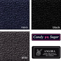 CandySugarキャンディーシュガーアンゴラ混スクールピーコートネイビー・グレー・ブラック