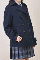【男女兼用】台衿付きショート丈ピーコート(スクールコート)紺・黒・グレーS〜LLサイズSCHOOLsceneスクールシーン