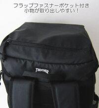 THRASHERスラッシャーフラップバックパック/リュックサック/PCスリーブ/ブラック/通学/スクールバッグ/TH-45