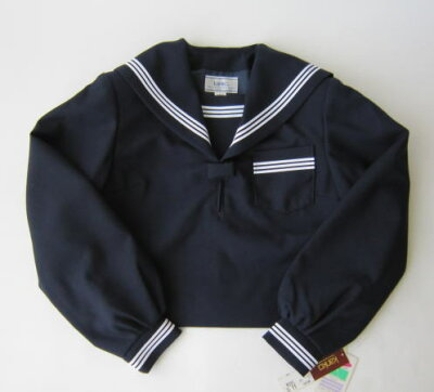 セーラー服上衣 (紺・3本ライン)KANKO カンコーウール50%/ポリエステル50%