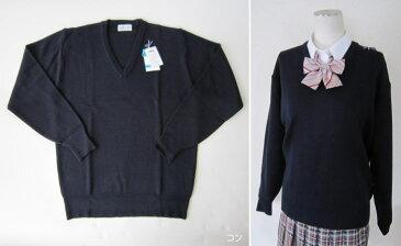 【男女兼用】スクールVセーター(ウール混・ウォッシャブル) スクールセーター 紺 黒 オフ白 学生用スクールニット 大きいサイズ 3L 日本製