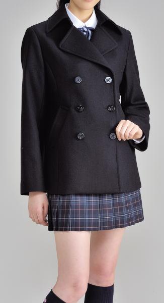 台衿付きショート丈スクールピーコート 黒・紺・グレー CO-151 Candy Sugar キャンディーシュガー