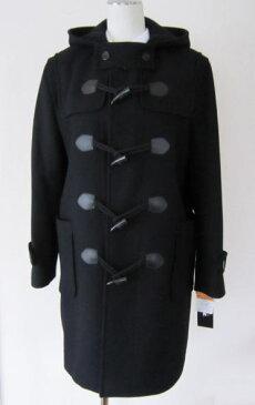 ダッフルコート(蓄熱保温裏地)黒 【男女兼用】 保温性に優れたメルトン生地と長い着丈のスクールコート